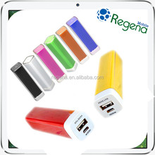 High quality 2000mah lipstick emergency battery charger portable mobile phone power bank