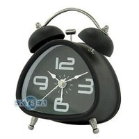 Metal Triangle Double bell alarm Clock #6026