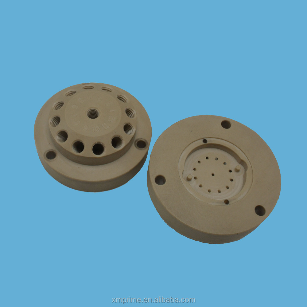 Alibaba OEM CNC machining PEEK and POM plastic processing machine parts
