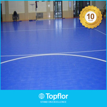 Antiskid pvc plastic floor covering in rolls for futsal court use
