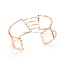 BC52414 Fashionable jewelry accessories plated 24k yellow gold cooper bangle
