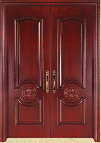 E top puertas y ventanas de madera de fabricaci n de dise o esmaltado frontal de entrada puertas for Diseno de puertas de entrada de madera