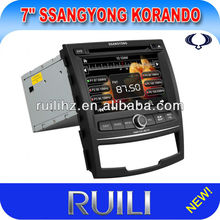 Special 7 inch Car Radio with GPS Bluetooth for SsangYong