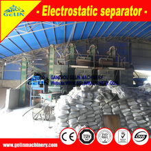 Dry type electricity separator tin ore price, double roller electric sorter machine