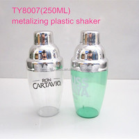 Mini plastic cocktail shakers chrome plated