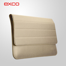 "EXCO Custom Portable Laptop support Cross texture PU 11.6"" laptop hard shell felt laptop case"
