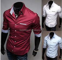 NEW instyles Fashion mens slim fit shirts Casual styles cheap men t shirts M-2XL in stock