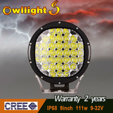 9inch111w led driving light led off road lights worklight led discount super bright display LED driving light