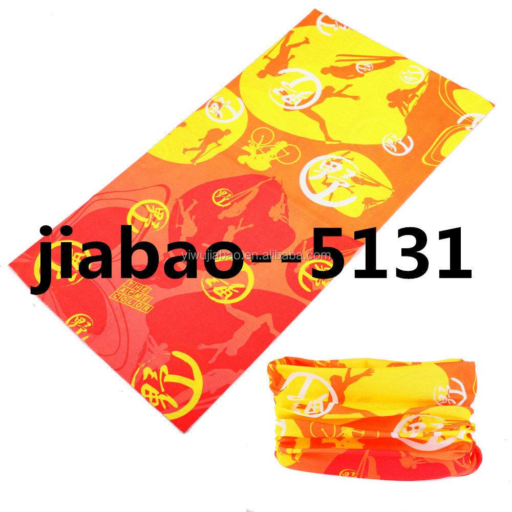 New Style Custom Multifunctional Seamless Tube Du rag Bandana Cycling Bandana Outdoor Sports Scarf For unisex