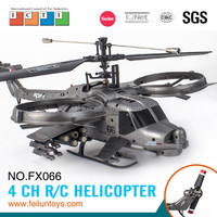 2.4G 4CH ABS material single propeller army modeling rc helicopter with gyro CE/FCC/ASTM certificate