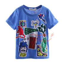 2016 New Fashionable Boy T shirt With Cartoon Printed Child Tops Boys Clothing BT90312-4L