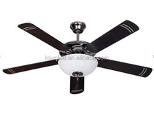 Ceiling fan with light modern remote control or pull