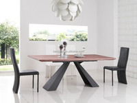 carved dinning top table wood with iron