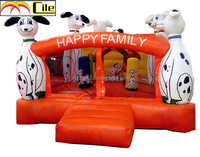 CILE 2015 Happy Spotty Dog Decoration Castle Inflatable Bouncer Bed Play Center for Kids