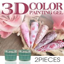 New nail products of 3D gel uv gel,sculpture uv gel 20 color Nails Art glue paint