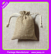 JESOY Personalized Nature Color Burlap Gift Bags with Drawstring For Wholesale