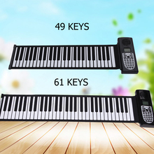 Bora wholesale music instrument 49 keys piano electric folding piano keyboard