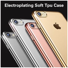 for iphone 5 case,Tpu Electroplated Cell Phone Back Cover Case For iPhone 6 7 se 5 5s 5c