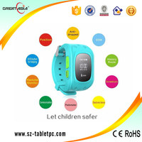 bluetooth wrist watch gps tracking device for kids SOS watch mobile phone