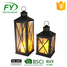 Gifts & Decor Large Contemporary Table Top Ramadan Metal Lantern With Glass Panels