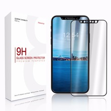For Apple iPhone X Screen Protector Tempered Glass Full Cover 3D 4D Curved Edge Protective Film Full Coverage TPU