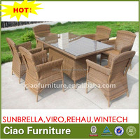 OPEN AIR TABLE AND CHAIRS 100% HANDWEAVING RATTAN TABLE SET C-TC-104