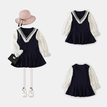 Ivory Long Peasant Sleeve Ruffled V-collar Frocks For Girls Boutique Clothing