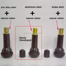 brass stem and EPDM rubber car tyre valve TR413 TR414 or zinc snap in valve