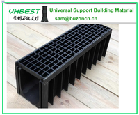 Plastic drainage ditch cover plastic drainage channel ditch grates drain grating cover
