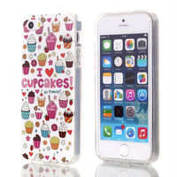 Cupcake dessert pattern phone case for iPhone 5 5S 5C with TPU material
