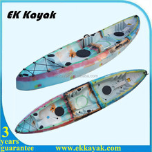 double plastic recreational kayak boats for family fishing
