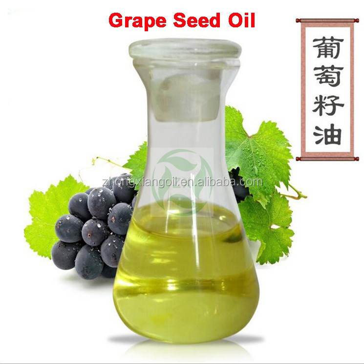 100% Pure Cold Pressed Essential Grape Seed Oil as Base Oil