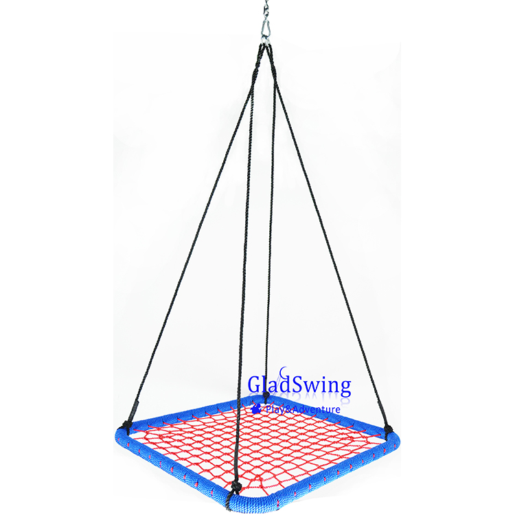GladSwing S414 100cm 40'' Square Children PE rope nest swing outdoor hanging baby hammock
