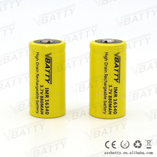 Rechargeable lithium ion battery cell 16340 3.7v 880mah li ion battery for power tools