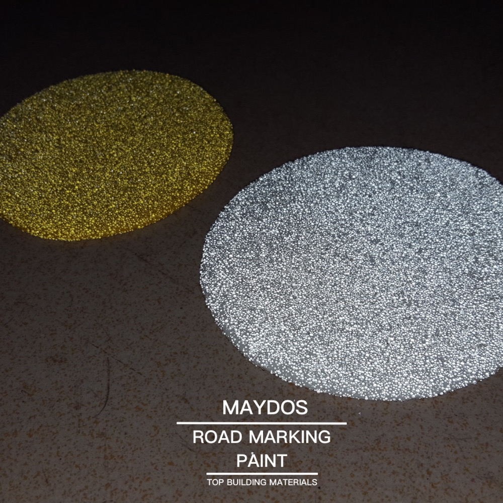 White thermoplastic pavement reflective road marking paint