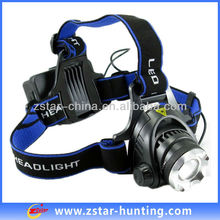 10W CREE XML-T6 1200LM Rechargeable Hunting Headlight with Strap