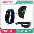 Activity tracker pulse sensor sleep quality tracking touch screen easy read display bluetooth rubber wristband