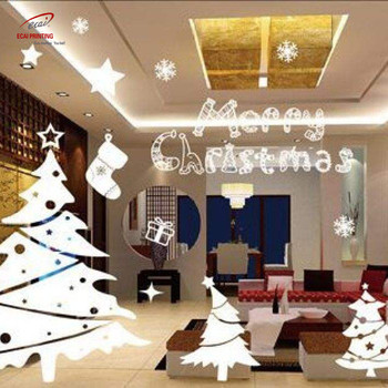 High Quality Christmas Decorative Window Stickers, Waterproof Christmas Stickers