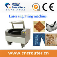 6090 good price CO2 cnc laser engraving machine plastic card rubber stamp