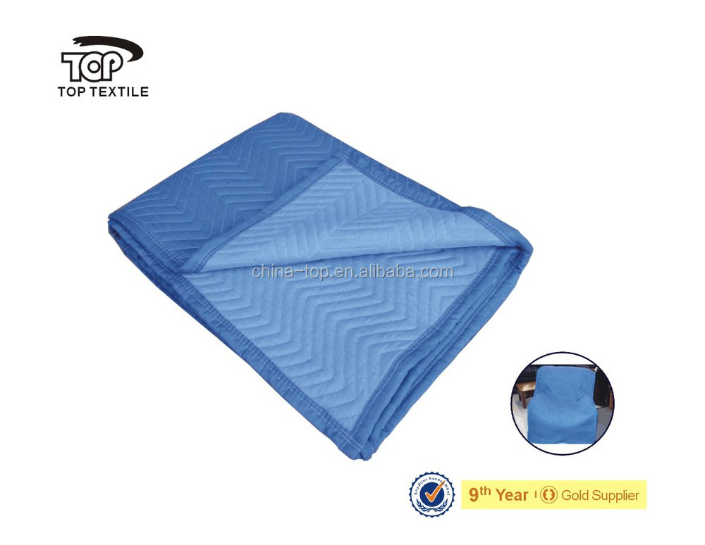 high-quality heavy poly-cotton Moving Blanket/furniture pad/removal blanket For packing furniture