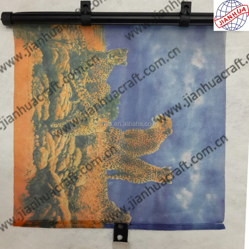 Roll up auto sun shade with BSCI test