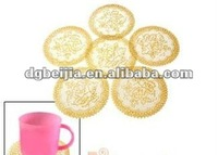 Embossed logo Soft PVC tea coaster with buisness gifts