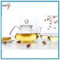 Hot sale home decoration famous borosilicate clear glass tea coffee set sale