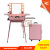 Stylish Cosmetic Working Station & beauty salon styling stations, Aluminum frame & 9mm PP laminated board, with multi-wheels