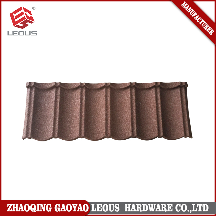 Long operating life colorful sand roofing tiles for garden building