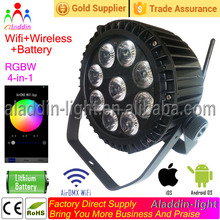 battery operated dmx led lighting outdoor waterproof 9X15W 5in1 RGBWA par 64