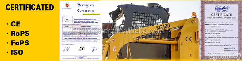 850kg Skid Steer With CE