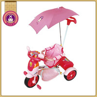 Promotion Gift Toys Push Along Steel Tricycle For Kids Price