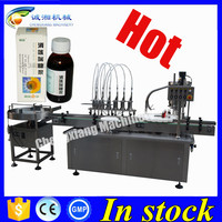 PLC controlled filling machine for syrup bottle,liquid filling valve