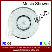 2014 latest unique waterproof bluetooth stereo shower speaker telephone led music rainfall head shower head